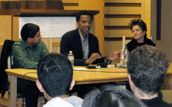Panelists at Sierra Canyon School. Photo by Susan Turner-Jones