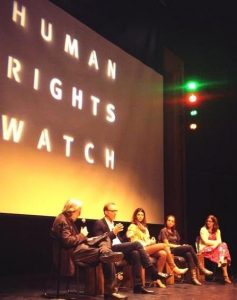 Panel discussion following the film screening. Photo by Abdiel Lopez, Palisades STF Co-President, via Twitter
