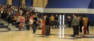 Sierra Canyon FREE Club presents the EMUS Campaign to their school. Photo by Simone Onelum