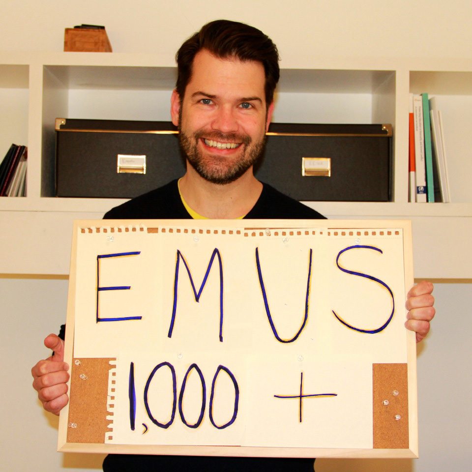 """""""EMUS 1,000+"""" - from Europe, Bede Sheppard sends STF congratulations."""
