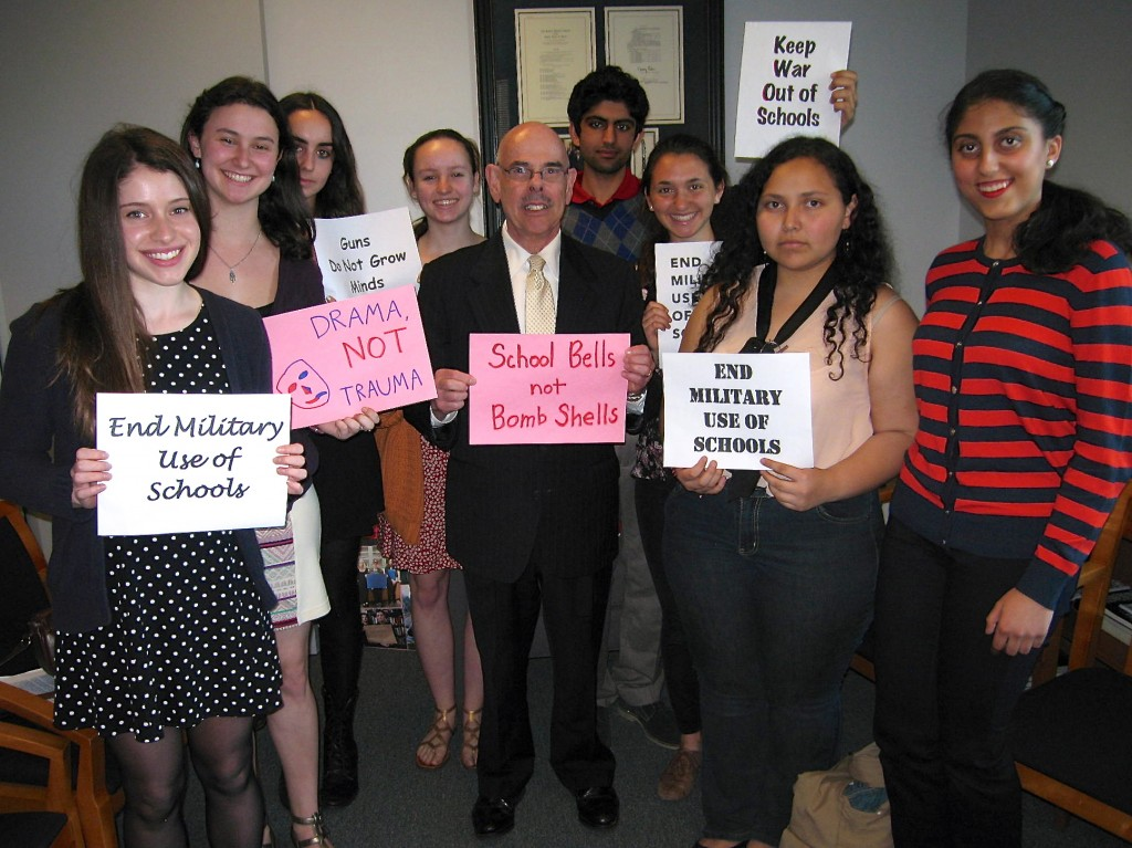 STF delegation gains support from Congressman Henry Waxman.  Photo by Pam Bruns.