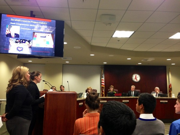 STFers present next steps in the EMUS Campaign to the William S. Hart District Governing Board. Photo by Liz Delgado.