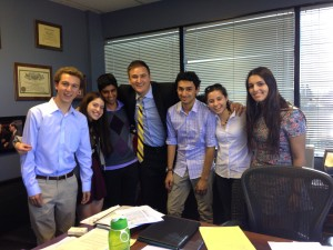 STFers pose with Congressman Brad Sherman's Senior Policy Deputy, John Alford. Photo by Kristin Ghazarians.