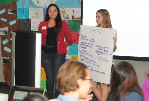 Students share leadership advice at the Year-End Workshop. Photo by Thomas De Clerck