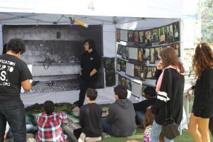 Students learn about the EMUS Campaign. Photo by Aram Radfur.