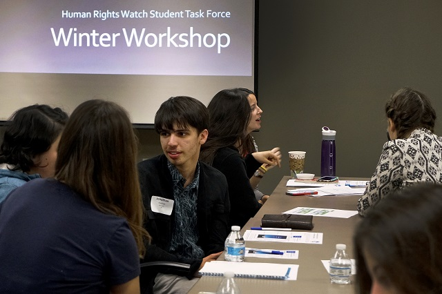STF Winter Workshop 1/2016 Rodi Youssef guest - Syrian refugee.<br>Photo by Patricia Williams.